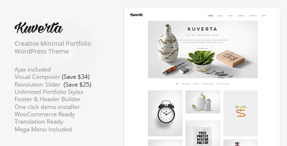 Kuverta – Minimal Portfolio WordPress Theme