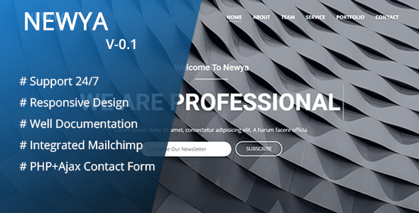 Newya – Responsive Business Template