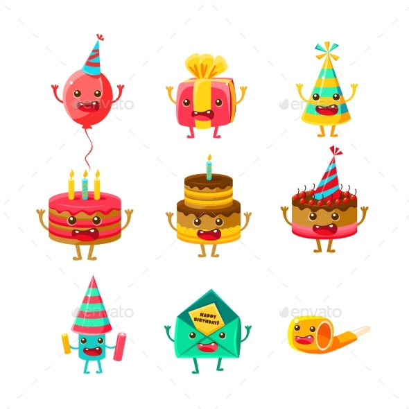 Happy Birthday And Celebration Party Symbols - Birthdays Seasons/Holidays