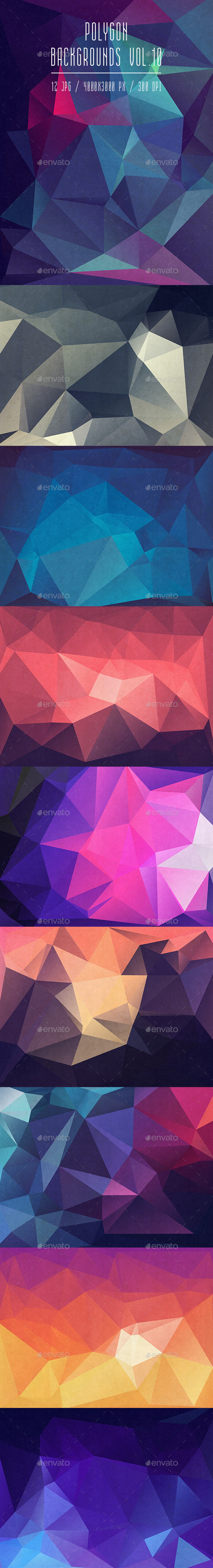 Polygon Backgrounds Vol.10 - Abstract Backgrounds