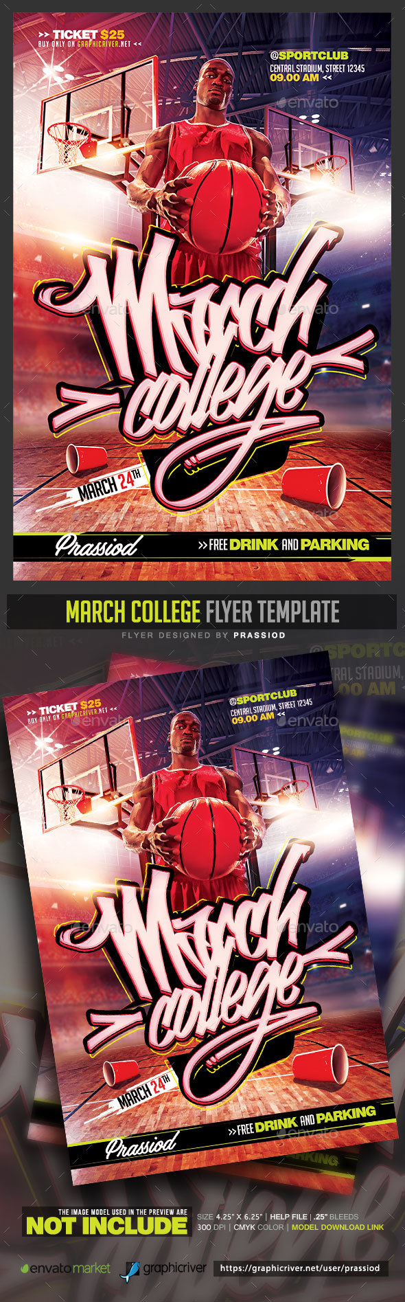 March College Flyer Template - Sports Events