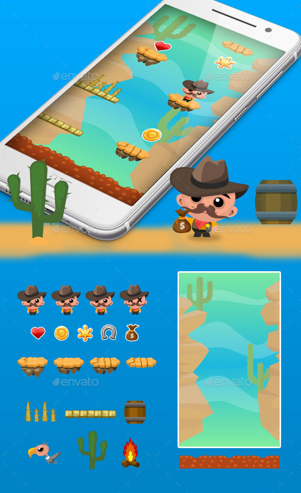 Desert Jump Game Kit - Game Kits Game Assets