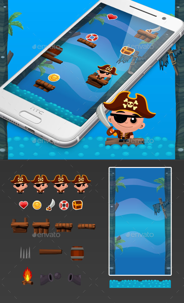 Pirate Jump Game Kit - Game Kits Game Assets