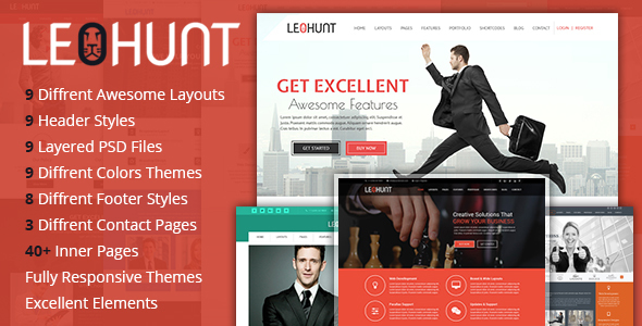 LeoHunt – Responsive Multi-Purpose HTML5 Template