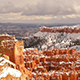 Fresh Snow Blankets Bryce Canyon Rock Formations Utah USA - VideoHive Item for Sale