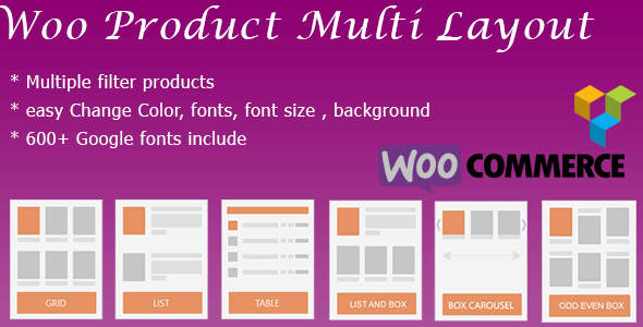 WooCommerce Shop Design & Produt Layout ( masonry, box, grid, list, slider, table, Carousel ) - CodeCanyon Item for Sale