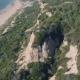 Aerial View a Sandstone Hill Near Shore