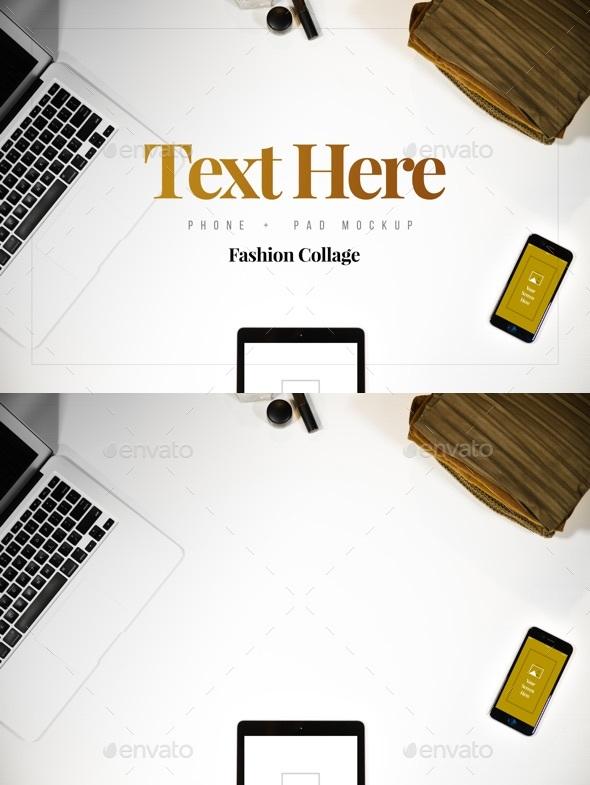 Phone & Pad Mockup - Mobile Displays