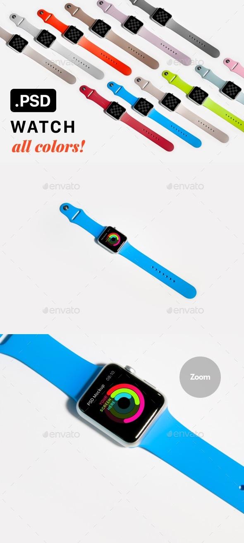 Watch Mockup - Mobile Displays