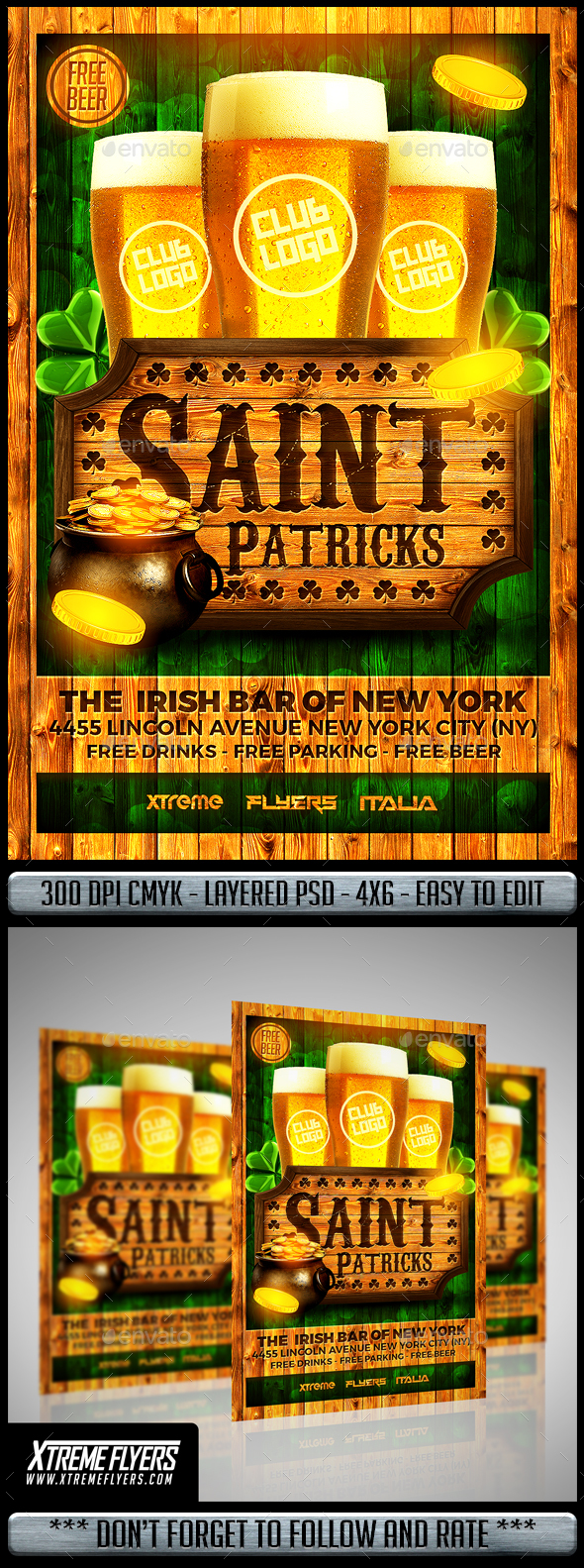 St Patricks Flyer - Clubs & Parties Events