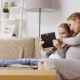 Pregnant Woman and Girl with Tablet Pc at Home 25 - VideoHive Item for Sale