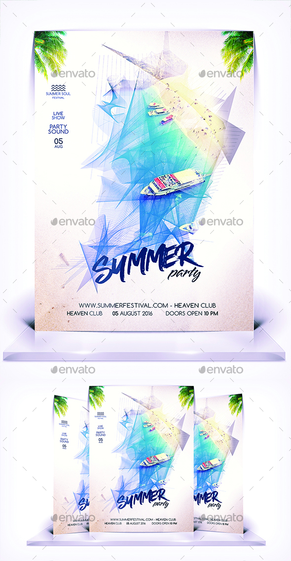 Summer Party Flyer Vol 3 - Flyers Print Templates