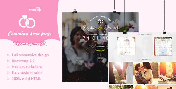 myWedding – Coming Soon HTML Template