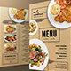 Brown Restaurant Menu - GraphicRiver Item for Sale
