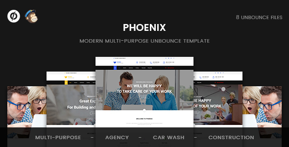 Phoenix – Multi-Purpose Unbounce Template