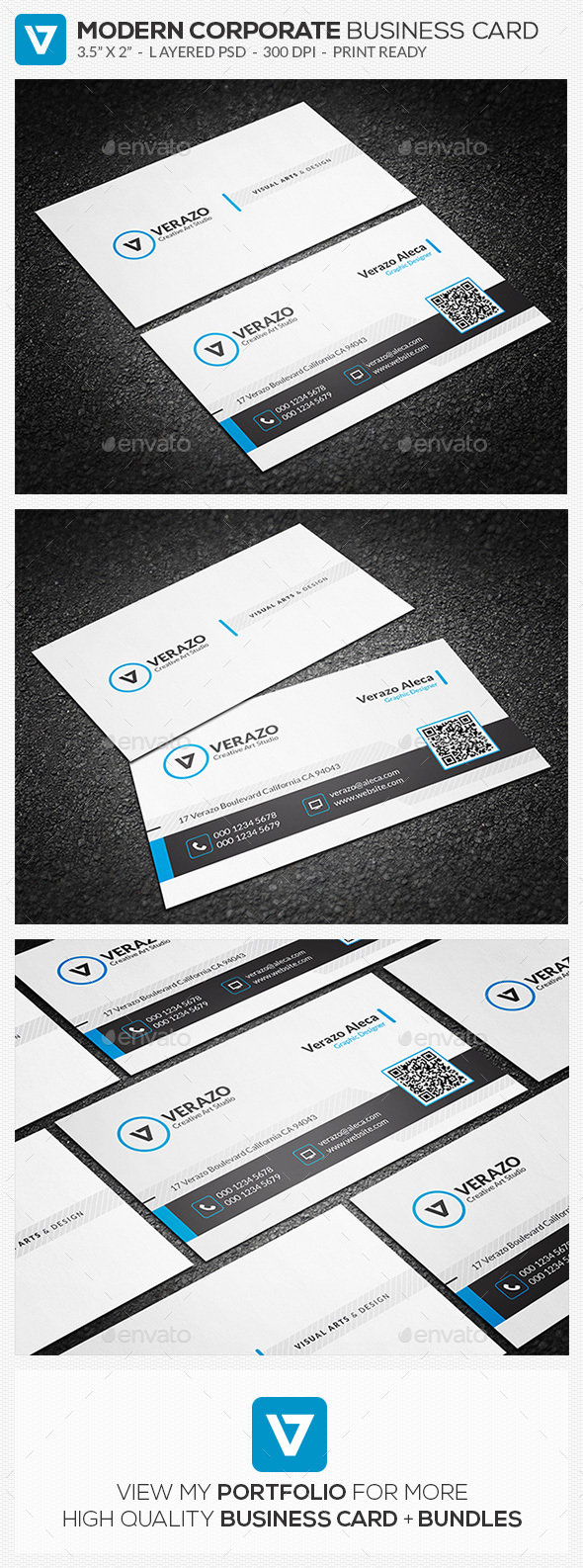 Clean & Creative Business Card Template - Corporate Business Cards