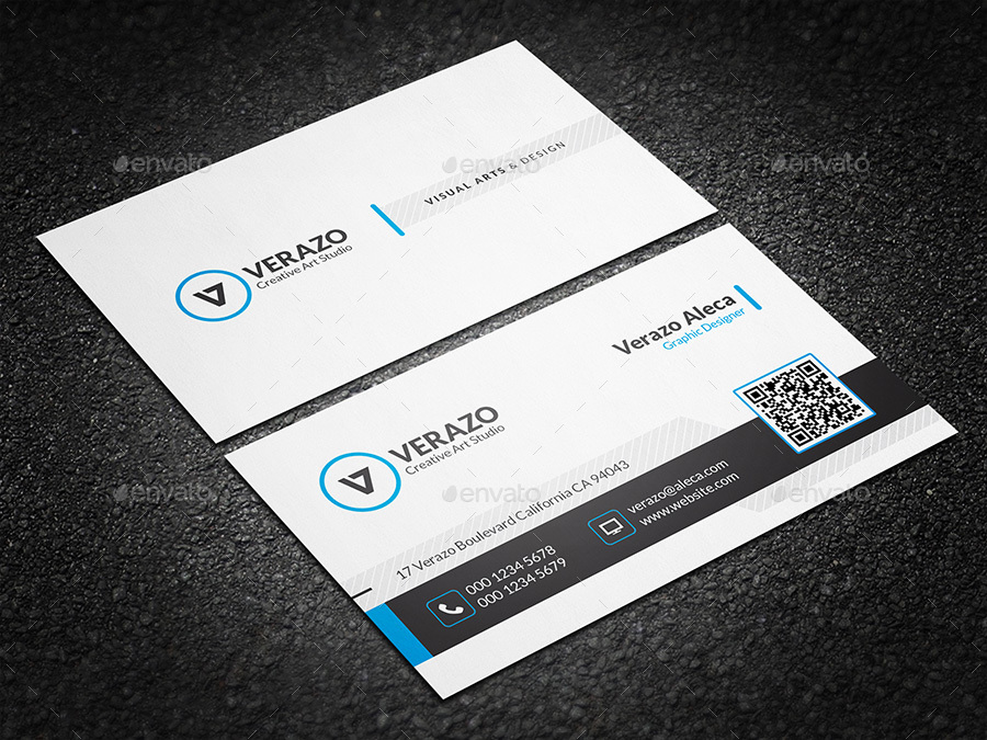 Clean Creative Business Card Template By Verazo