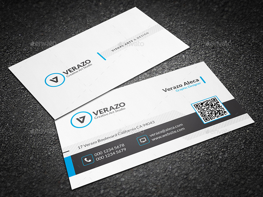 Clean & Creative Business Card Template by verazo | GraphicRiver