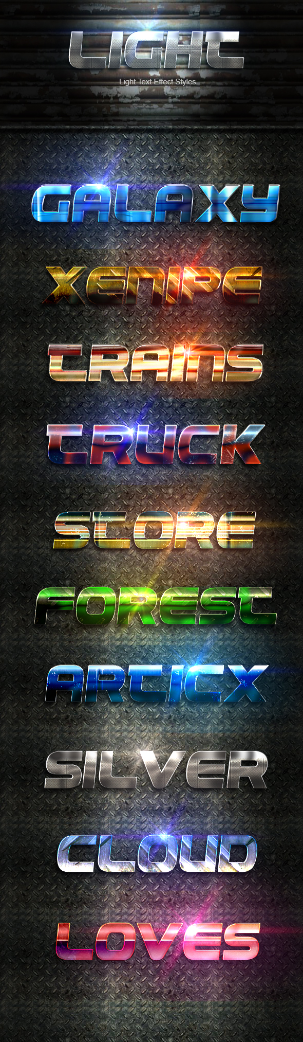 Light Text Effect Styles Vol 4 - Text Effects Styles