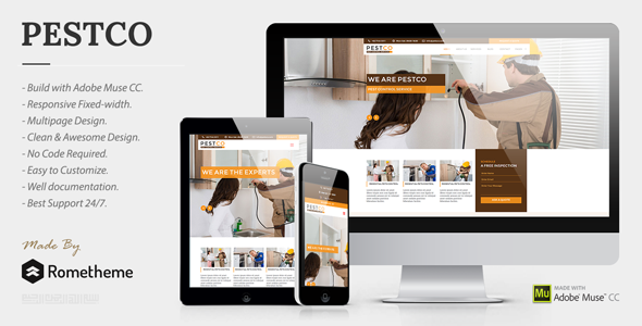 Pestco - Pest Control Services Muse Templates