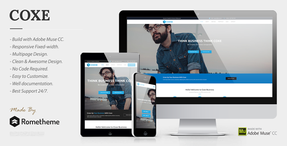 COXE - Corporate Multipurpose Muse Template - Corporate Muse Templates