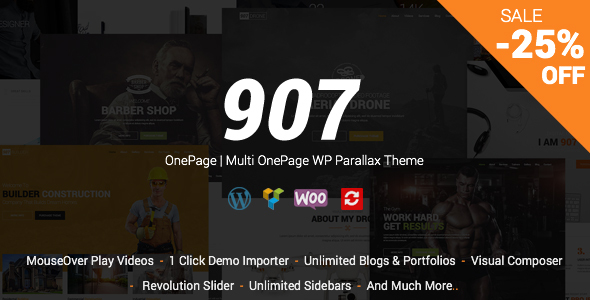 907 – Responsive Multi-Purpose WordPress Theme