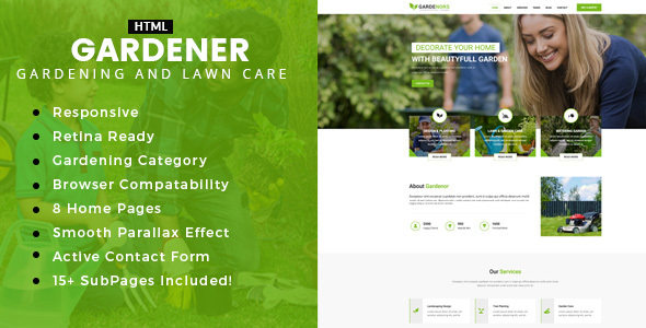 Gardening - Gardening and Landscaping HTML Template - Business Corporate