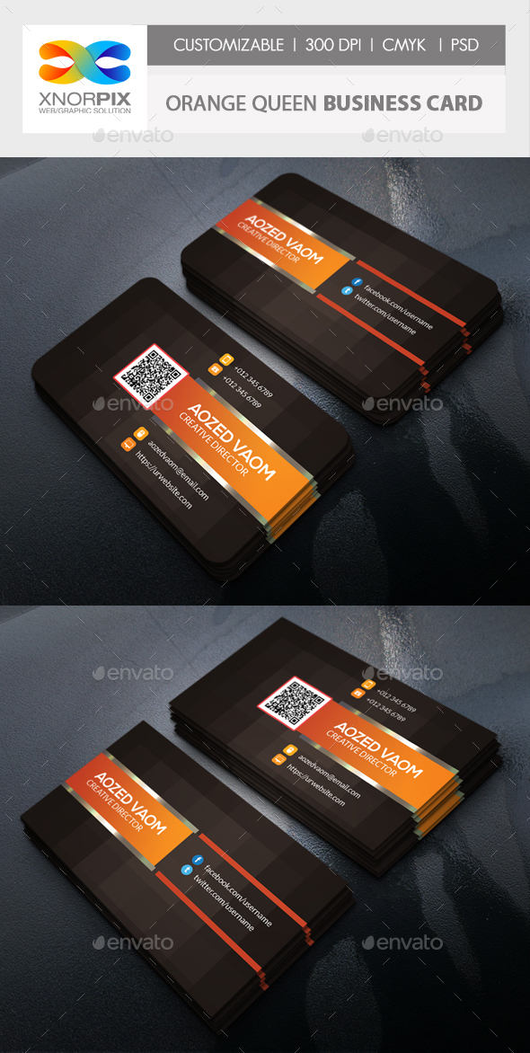 Orange-Queen Business Card - Business Cards Print Templates