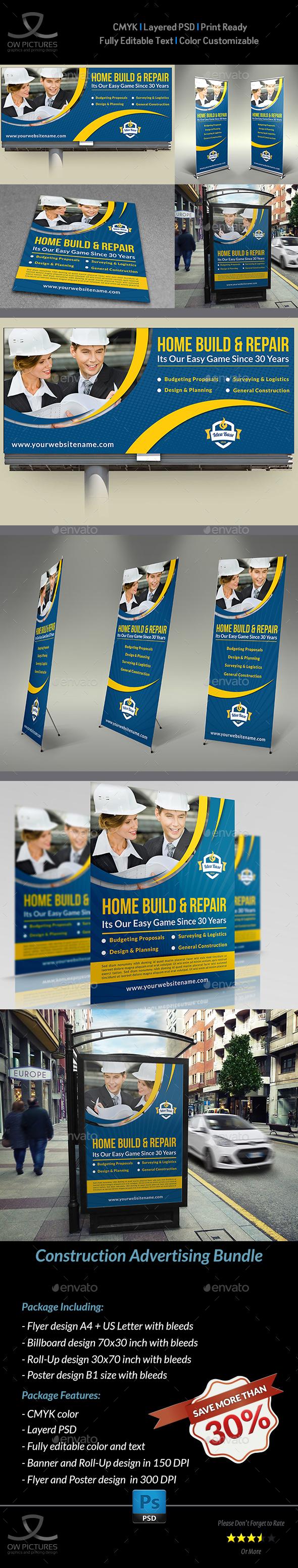 Construction Advertising Bundle Vol.2 - Signage Print Templates