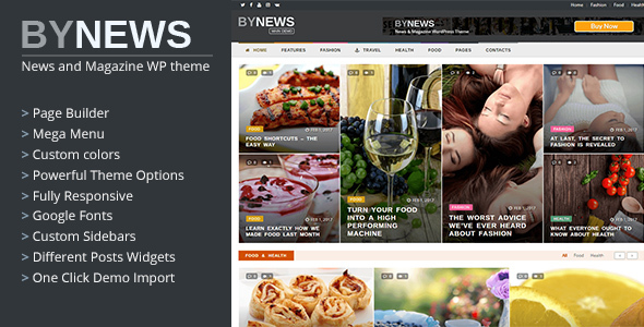 ByNews – Responsive News and Magazine WordPress Theme
