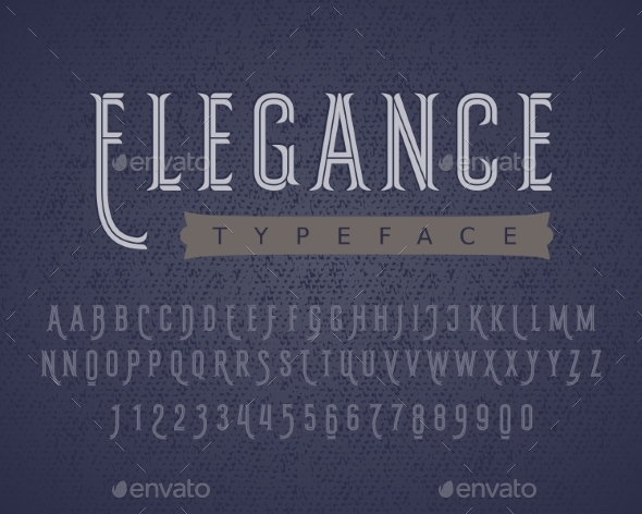 Linear Letters and Numbers Decorative Typeface - Decorative Symbols Decorative