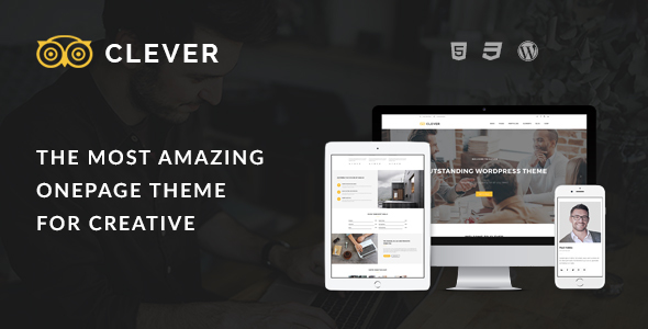 Clever One Page – Creative WordPress Theme