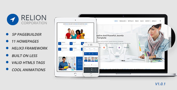 Relion Multi-Purpose Joomla! Template - Business Corporate