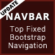 My Navbar - Top Fixed Responsive Bootstrap Navigation Bar