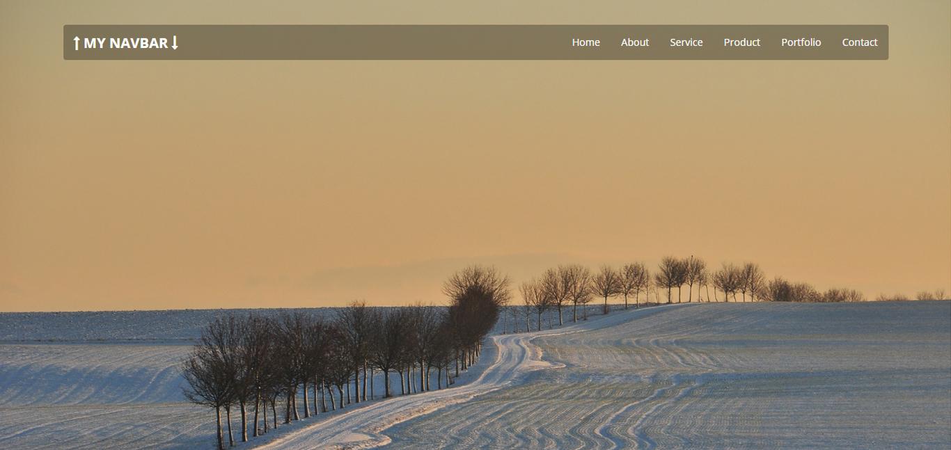 My Navbar - Top Fixed Bootstrap 3 Navigation Bar by ...