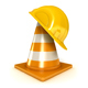 Helmet and Traffic Cones - 3DOcean Item for Sale