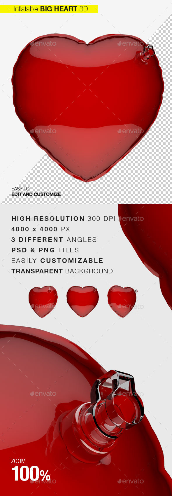 Heart Inflatable Love - Objects 3D Renders