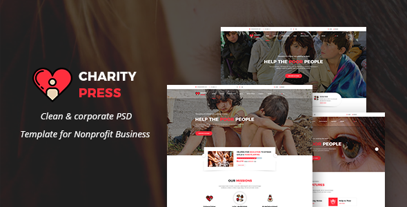 Charity Press - Non-Profit, Charity & Donations PSD Template - Nonprofit PSD Templates