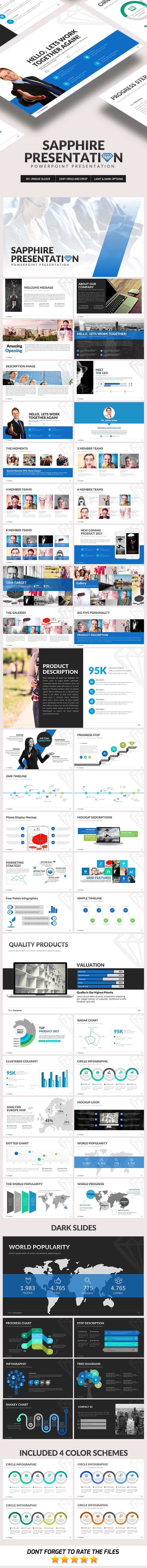 Sapphire Powerpoint Template - Business PowerPoint Templates