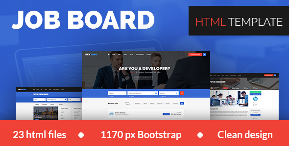 Dexjobs Job Board HTML Template