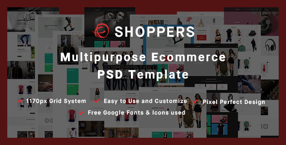 Shoppers – Multipurpose Ecommerce PSD Template