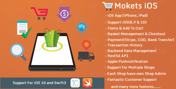 Mokets(Mobile Commerce iOS Full Application) - CodeCanyon Item for Sale