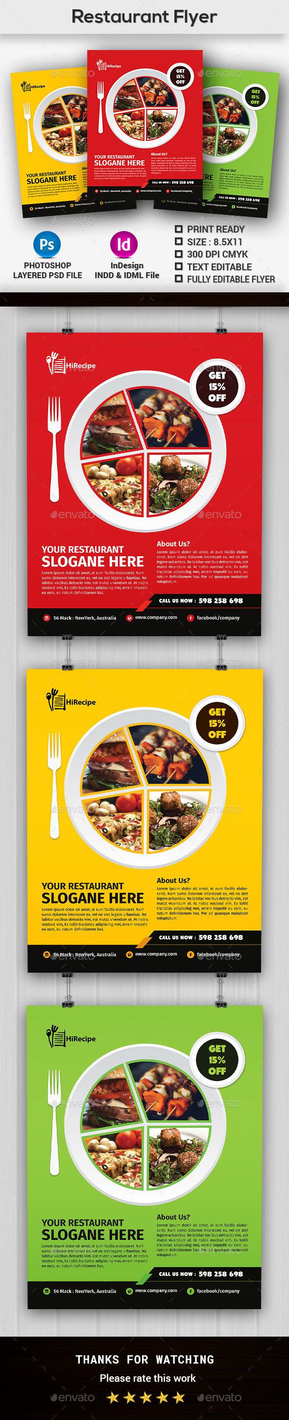 Restaurant Flyer Template