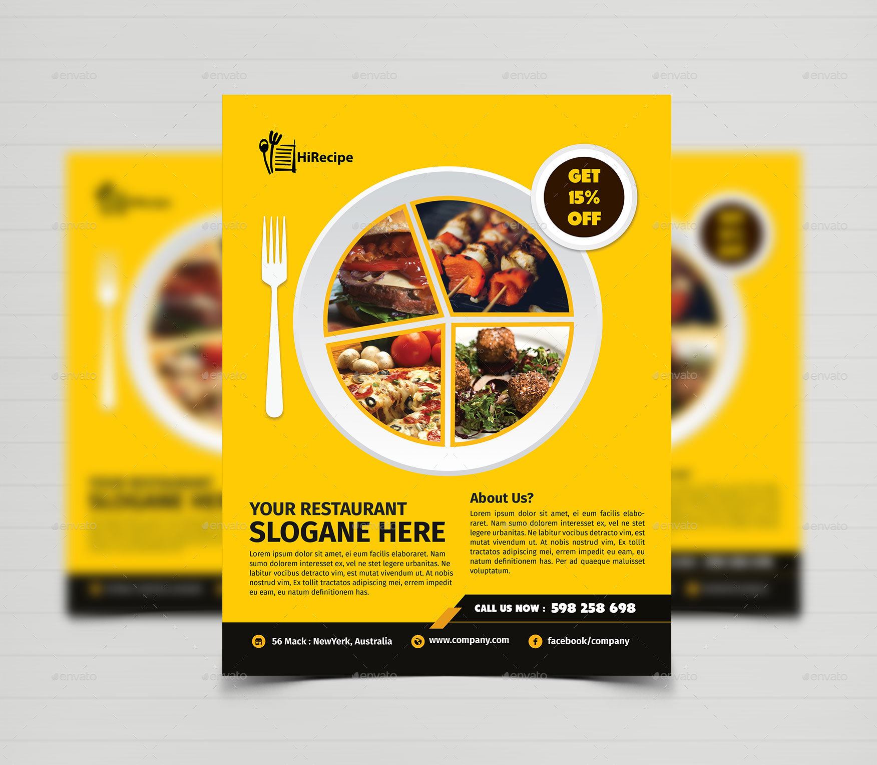 Restaurant Flyer Template   Restaurant Flyers. 01_ScreenShot ...