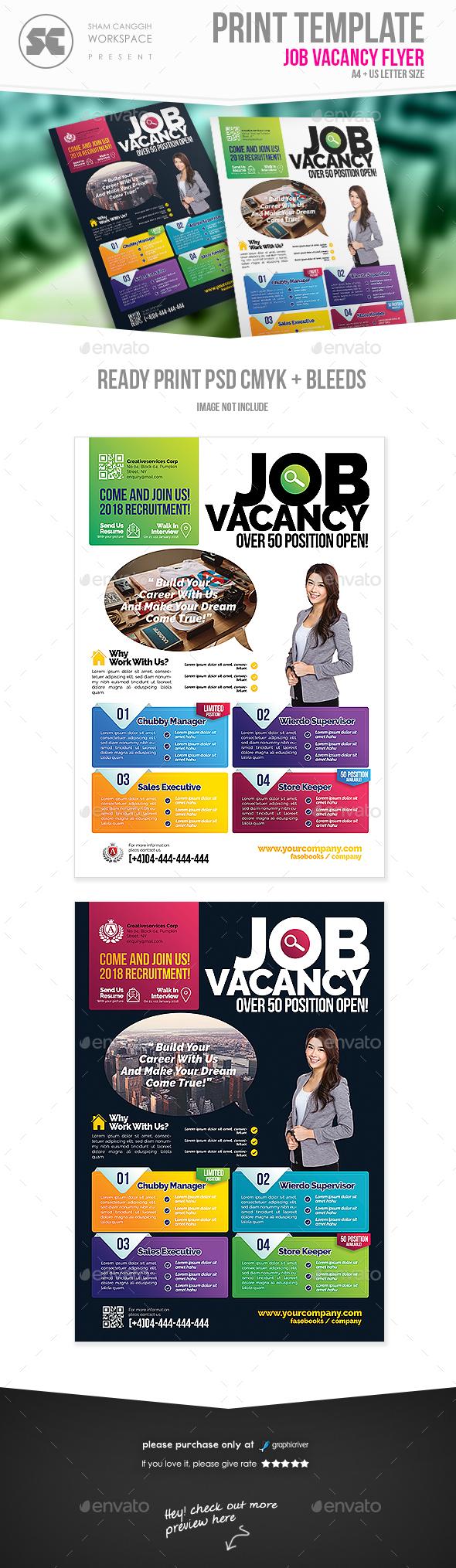 Job Vacancy Flyer - Miscellaneous Events