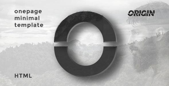 Origin | Onepage Minimal HTML Template