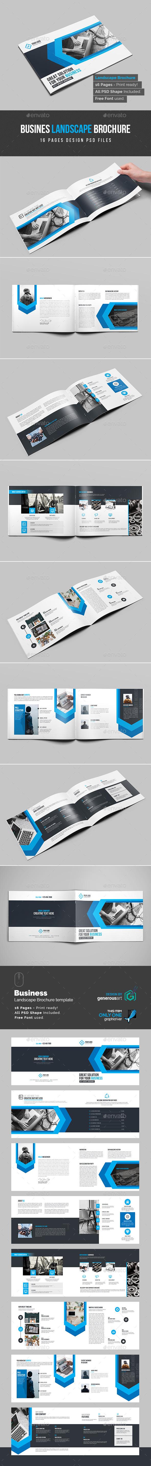 Landscape Bi-Fold Brochure Template - Brochures Print Templates