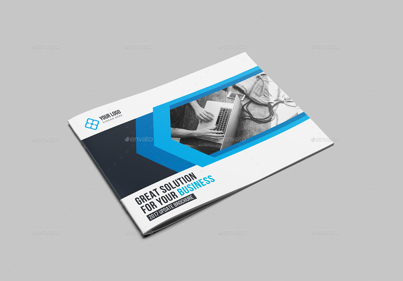 Landscape Bi-Fold Brochure Template by generousart | GraphicRiver