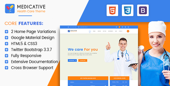 Medicative – Responsive Medical HTML Template