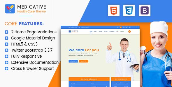 Medicative – Responsive Medical HTML Template